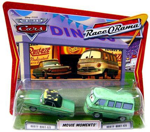 Disney Cars The World of Cars Movie Moments Rusty & Dusty Rust-eze Diecast Car 2-Pack [Race-O-Rama]