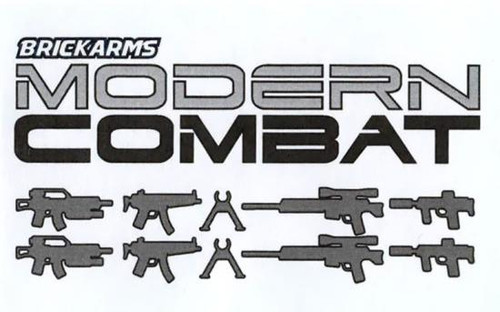 BrickArms Modern Combat 2.5-Inch Weapons Pack [Gunmetal]