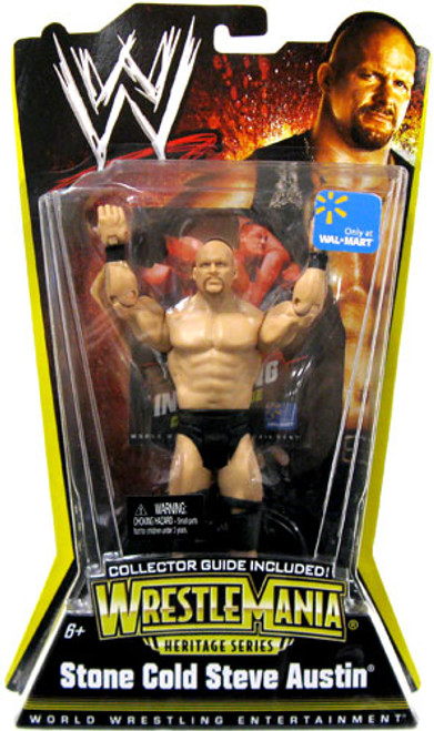 WWE Wrestling WrestleMania Heritage Series 1 Stone Cold Steve Austin Exclusive Action Figure