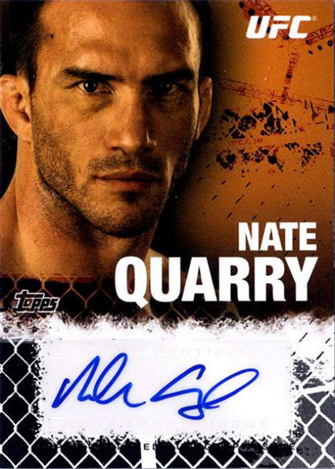 UFC 2010 Championship Nate Quarry Autograph Fighters & Personalities Autograph Card FA-NQ