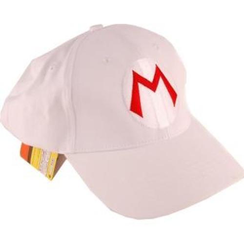 Super Mario Mario Baseball Cap [White]
