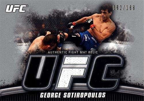 UFC 2010 Knockout Silver Mat Relic George Sotiropoulos FM-GS