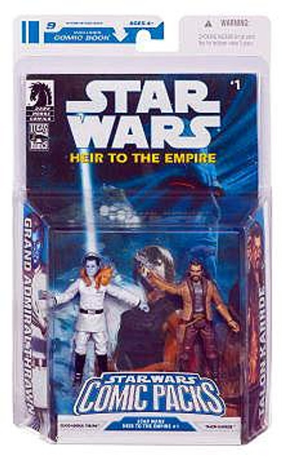 Star Wars Expanded Universe Comic Packs 2009 Grand Admiral Thrawn & Talon Karrde Action Figure 2-Pack #1