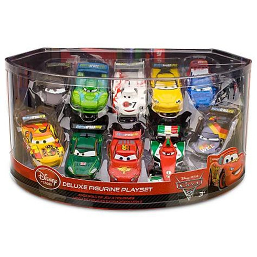Disney Cars Cars 2 1:43 Multi-Packs Deluxe Figurine Playset Exclusive PVC Figurine Set [Lightning McQueen & More]