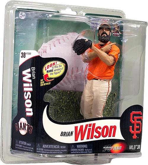 McFarlane Toys MLB San Francisco Giants Sports Picks Series 30 Brian Wilson Action Figure [Orange Shirt]