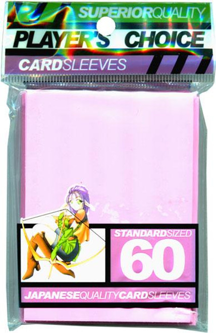 Card Supplies Pink Standard Card Sleeves [60 ct]