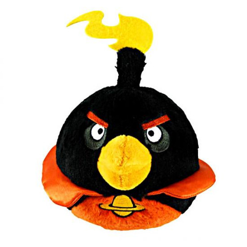 Angry Birds Space Firebomb Bird 8-Inch Plush [With Sound]
