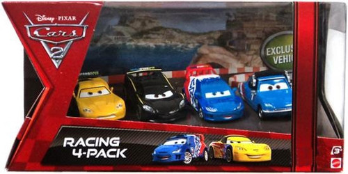 Disney Cars Cars 2 Multi-Packs Racing 4-Pack Exclusive Diecast Car Set [Jeff Gorvette]