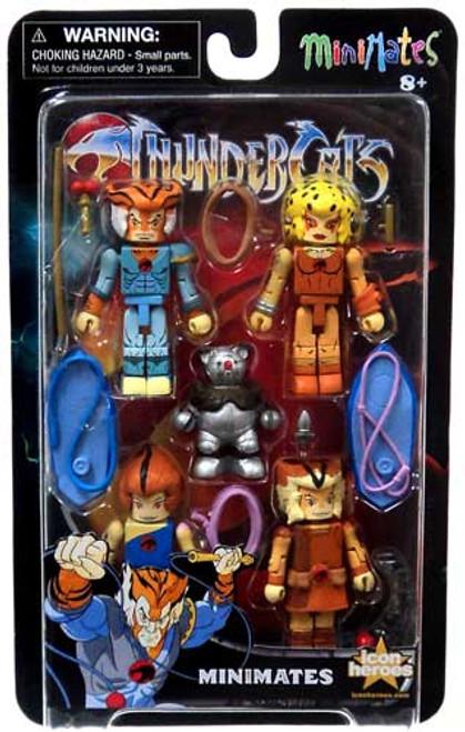 Minimates Series 2 Thundercats Series 2 Minifigure 5-Pack [Wilykit, Tygra, Wilykat, Cheetara & Ro-Bear]
