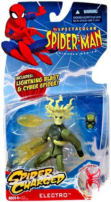 The Spectacular Spider-Man Animated Series Electro Action Figure [Spider Charged]