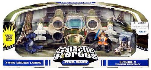 Star Wars The Empire Strikes Back Galactic Heroes Cinema Scenes X-Wing Dagobah Landing Mini Figure Set