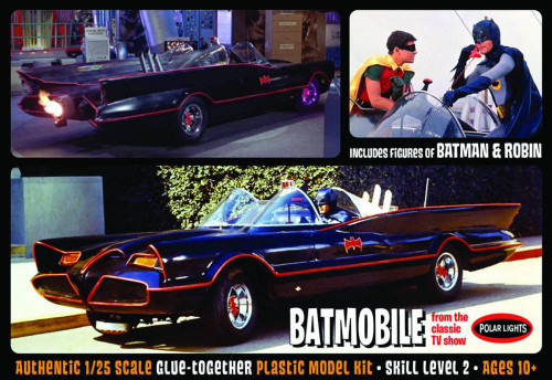 Batman 1966 TV Series Batmobile 1/25 Scale Model Kit