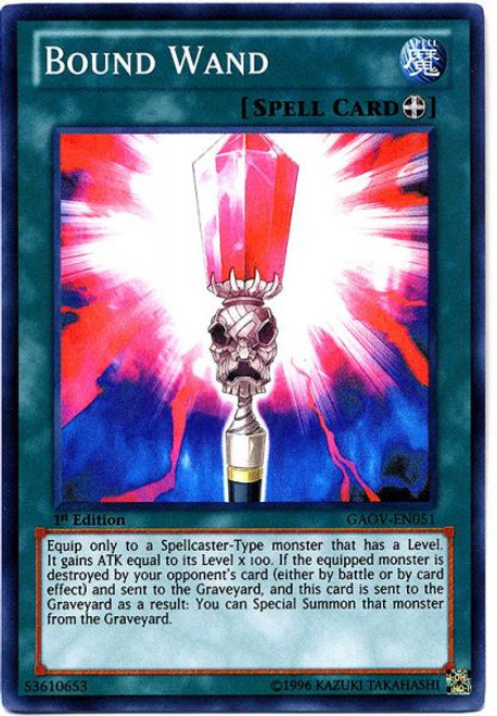 YuGiOh 5D's Galactic Overlord Super Rare Bound Wand GAOV-EN051