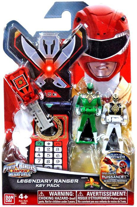 Power Rangers Super Megaforce Legendary Ranger Key Pack Roleplay Toy [Mighty Morphin, Green & White]