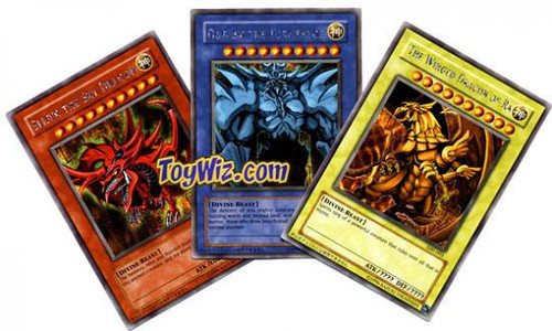 YuGiOh Promo Cards Egyptian God Cards Set of 3 Ultra Rare