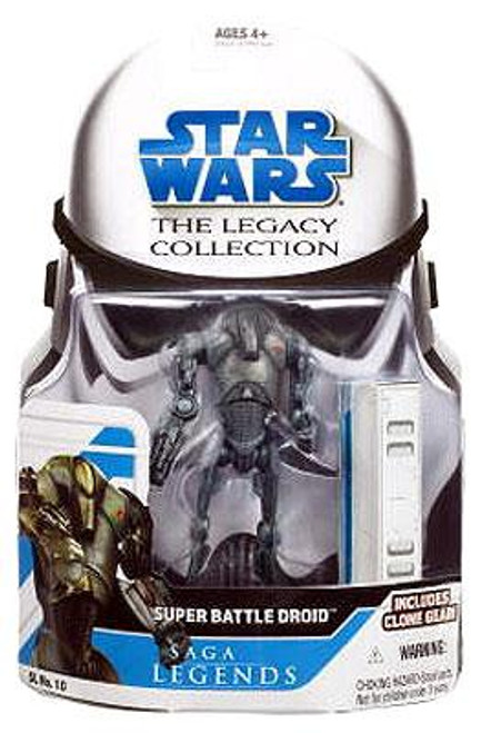 Star Wars Revenge of the Sith Legacy Collection 2008 Saga Legends Super Battle Droid Action Figure SL10