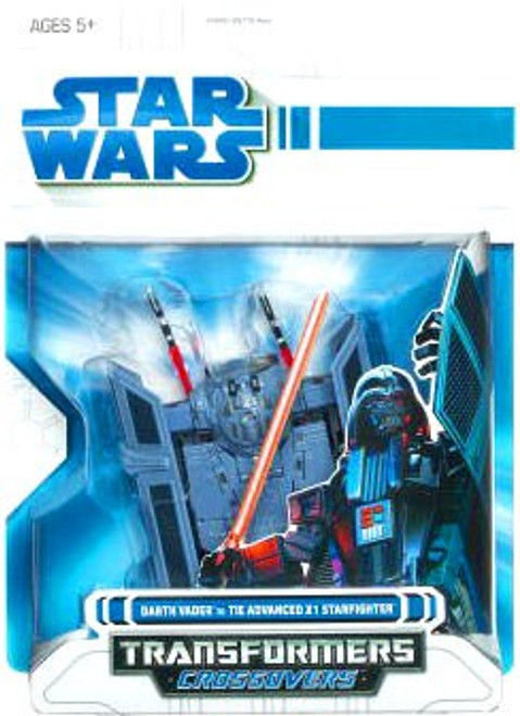 Star Wars A New Hope Transformers Crossovers 2009 Darth Vader to TIE Advanced X1 Fighter Action Figure [Blue Package]