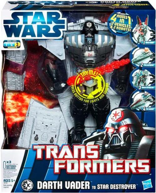 Star Wars Empire Strikes Back Transformers 2012 Darth Vader to Star Destroyer Action Figure [Version 1]
