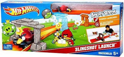 Angry Birds Hot Wheels Slingshot Launch Track Set