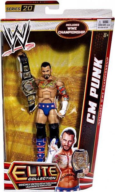 WWE Wrestling Elite Series 20 CM Punk Action Figure [WWE Championship Belt]