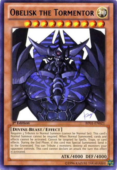 YuGiOh Battle Pack: Epic Dawn Rare Obelisk the Tormentor BP01-EN021