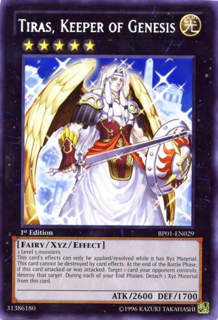 YuGiOh Battle Pack: Epic Dawn Rare Tiras, Keeper of Genesis BP01-EN029