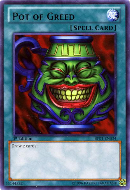 YuGiOh Battle Pack: Epic Dawn Rare Pot of Greed BP01-EN034
