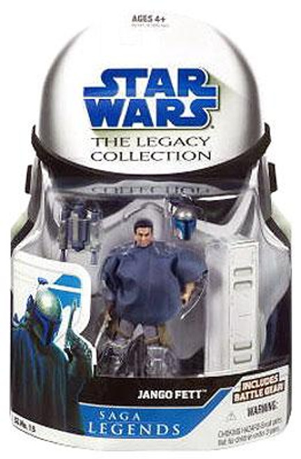 Star Wars Attack of the Clones Legacy Collection 2008 Saga Legends Jango Fett Action Figure SL15