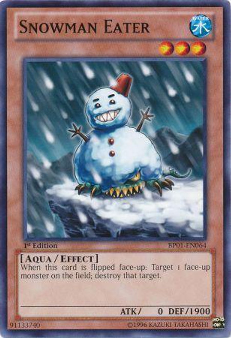 YuGiOh Battle Pack: Epic Dawn Common Snowman Eater BP01-EN064