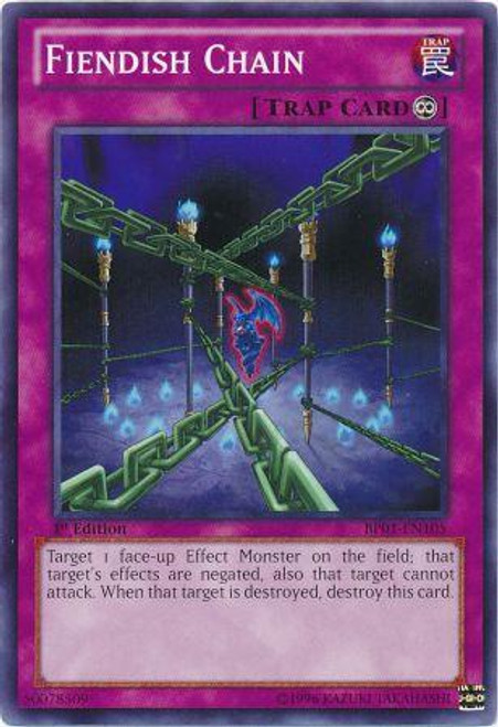 YuGiOh Battle Pack: Epic Dawn Common Fiendish Chain BP01-EN105