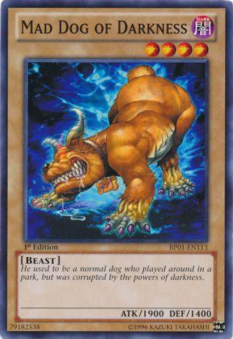 YuGiOh Battle Pack: Epic Dawn Common Mad Dog of Darkness BP01-EN113