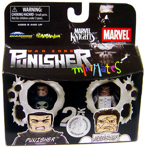 Marvel Knights Minimates Exclusives War Zone Punisher & Jigsaw Exclusive Minifigure 2-Pack