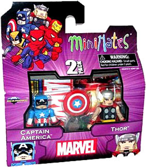 Marvel Minimates Best of Series 1 Captain America & Thor Minifigure 2-Pack