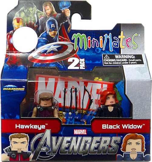 Marvel Minimates Avengers Movie Hawkeye & Black Widow Exclusive Minifigure 2-Pack