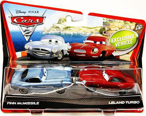 Disney Cars Cars 2 2 Packs Finn Mcmissile Leland Turbo Diecast Car 2 P...