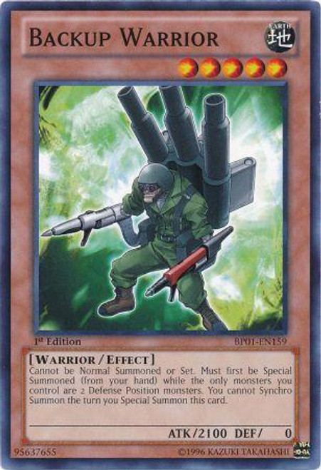 YuGiOh Battle Pack: Epic Dawn Common Backup Warrior BP01-EN159
