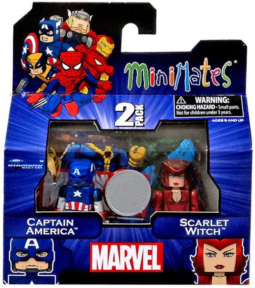 Marvel Minimates Exclusives Captain America & Scarlet Witch Exclusive Minifigure 2-Pack