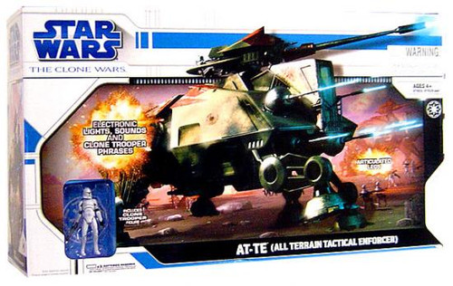Star Wars The Clone Wars Vehicles 2008 AT-TE (All Terrain Tactical Enforcer) Action Figure Vehicle