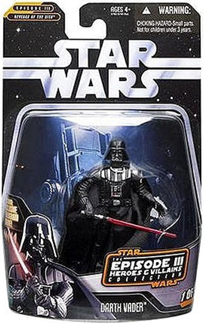 Star Wars Revenge of the Sith Episode III Heroes & Villains 2006 Darth Vader Action Figure #1 of 12