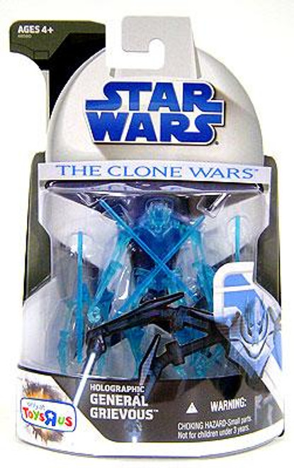 Star Wars The Clone Wars Clone Wars 2008 Holographic General Grievous Exclusive Action Figure