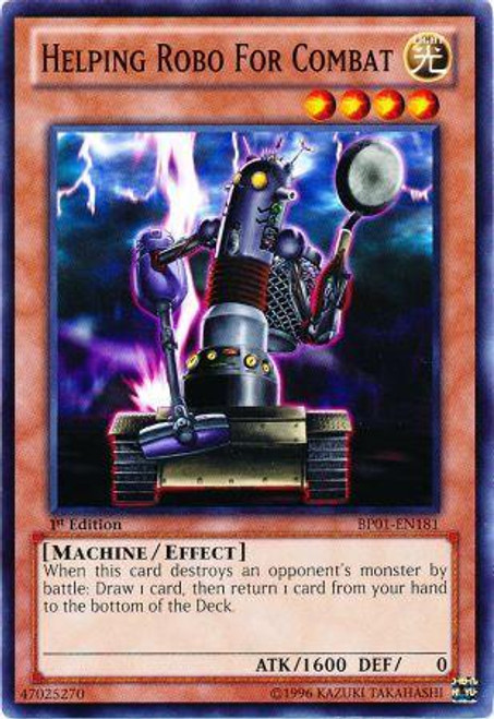 YuGiOh Battle Pack: Epic Dawn Common Helping Robo for Combat BP01-EN181