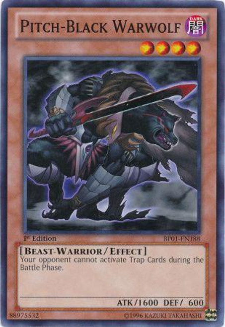 YuGiOh Battle Pack: Epic Dawn Common Pitch-Black Warwolf BP01-EN188