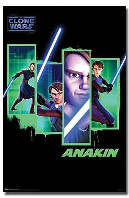 Star Wars The Clone Wars Anakin Skywalker Wall Poster