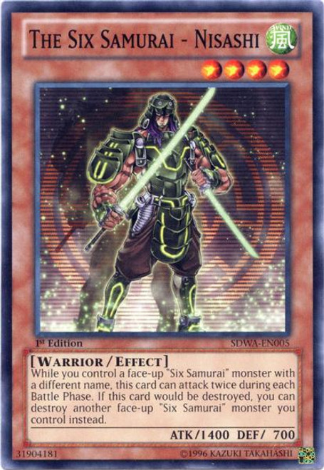 YuGiOh Zexal Samurai Warlords Structure Deck Common The Six Samurai - Nisashi SDWA-EN005
