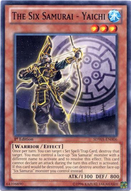 YuGiOh Zexal Samurai Warlords Structure Deck Common The Six Samurai - Yaichi SDWA-EN006