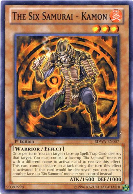 YuGiOh Zexal Samurai Warlords Structure Deck Common The Six Samurai - Kamon SDWA-EN007