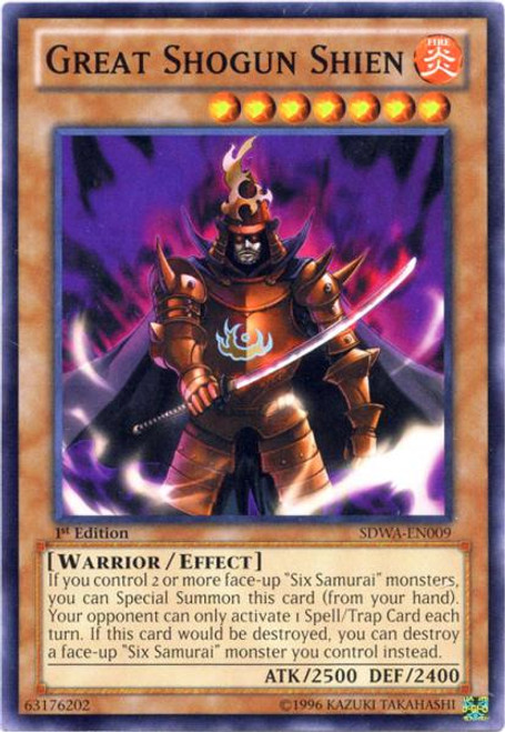 YuGiOh Zexal Samurai Warlords Structure Deck Common Great Shogun Shien SDWA-EN009