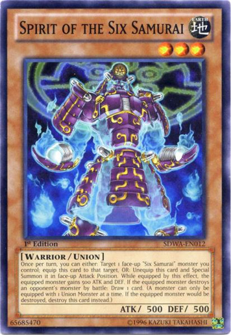 YuGiOh Zexal Samurai Warlords Structure Deck Common Spirit of the Six Samurai SDWA-EN012