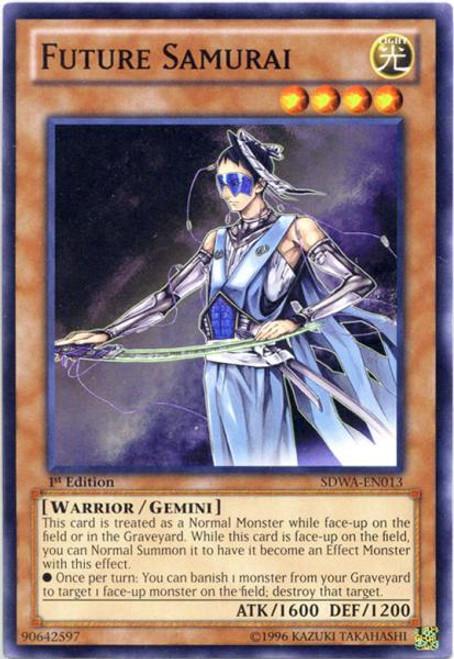 YuGiOh Zexal Samurai Warlords Structure Deck Common Future Samurai SDWA-EN013