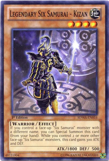 YuGiOh Zexal Samurai Warlords Structure Deck Common Legendary Six Samurai - Kizan SDWA-EN016